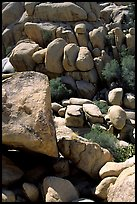 Jumble of rocks in Hidden Valley. Joshua Tree National Park ( color)