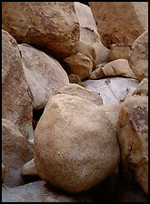 Boulders close-up, Hidden Valley. Joshua Tree National Park ( color)
