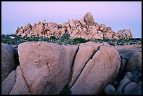 Boulders at dusk, Jumbo Rocks. Joshua Tree National Park, California, USA. (color)