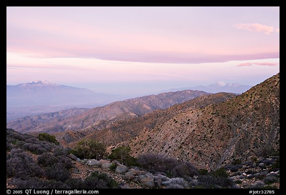 Keys View, sunrise. Joshua Tree National Park (color)