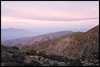Keys View, sunrise. Joshua Tree National Park, California, USA.