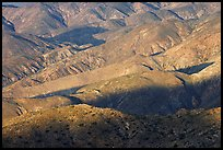 Eroded hills below Keys View, early morning. Joshua Tree National Park, California, USA.
