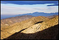 Ridges from Keys View, early morning. Joshua Tree National Park, California, USA.