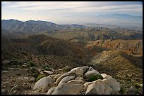 Keys View and Coachella Valley, morning. Joshua Tree National Park, California, USA. (color)