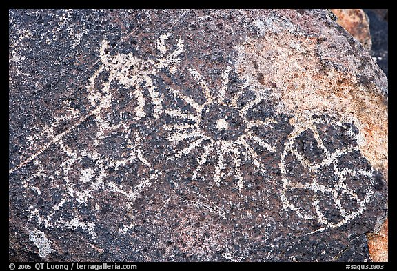 Hohokam petroglyphs. Saguaro National Park, Arizona, USA.