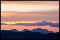 Mountains and clouds at sunset, Rincon Mountain District. Saguaro National Park ( color)