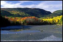 Otter Cove at low tide looking at Cadillac Mountain and Dorr Mountain. Acadia National Park, Maine, USA. (color)