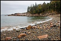 Hunters cove in rainy weather. Acadia National Park ( color)
