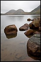 Boulders and the Bubbles, Jordan Pond. Acadia National Park ( color)