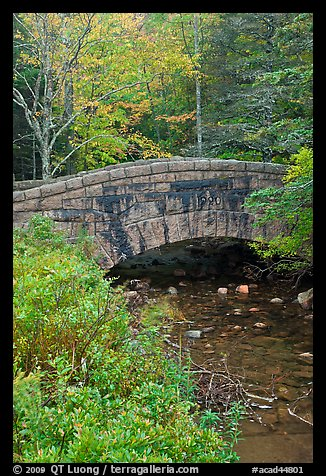 Stone bridge over stream. Acadia National Park (color)