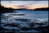 West Pond, sunset, Schoodic Peninsula. Acadia National Park, Maine, USA.