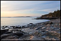 Coastine with slabs, sunrise, Schoodic Peninsula. Acadia National Park ( color)