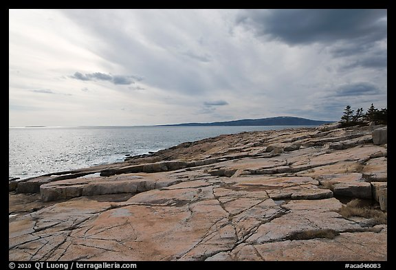 Rock slabs, Schoodic Point. Acadia National Park (color)