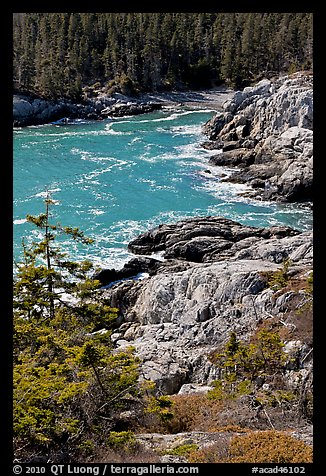 Squeaker Cove from above, Isle Au Haut. Acadia National Park (color)