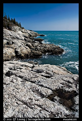 Rocky ocean shoreline, Isle Au Haut. Acadia National Park (color)