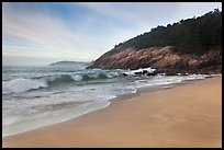 Ocean surf and Sand Beach. Acadia National Park ( color)
