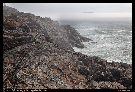 Coastline and offshore fog. Acadia National Park (color)