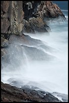 Blurred water at base of Great Head. Acadia National Park ( color)
