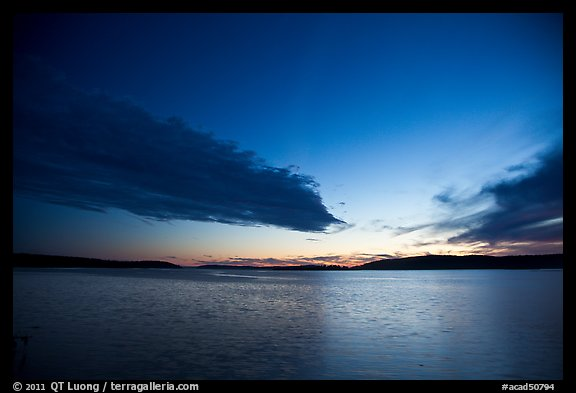 Dark clouds at dusk, Pretty Marsh. Acadia National Park, Maine, USA.