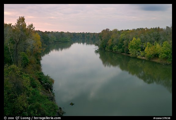 Congaree River at sunset. Congaree National Park (color)