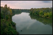 Congaree River at sunset. Congaree National Park ( color)