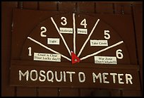 Mosquito Meter in old visitor center. Congaree National Park, South Carolina, USA. (color)