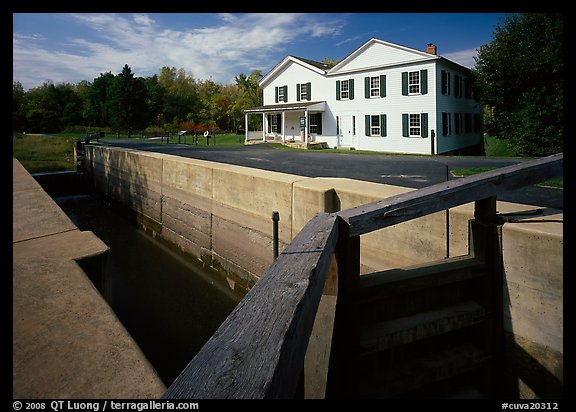 Lock and Canal visitor center. Cuyahoga Valley National Park (color)
