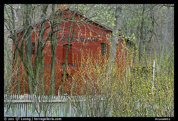 Hale Farm in early spring. Cuyahoga Valley National Park, Ohio, USA.