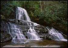 Laurel Falls, Tennessee. Great Smoky Mountains National Park ( color)