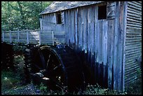 Water-powered gristmill, Cades Cove, Tennessee. Great Smoky Mountains National Park, USA.