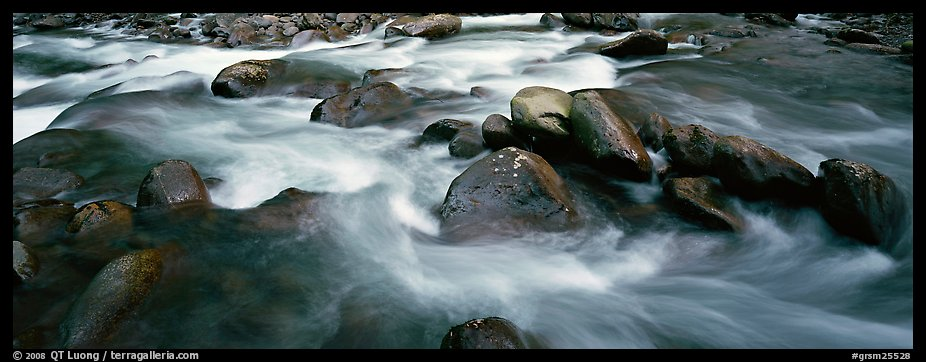 Boulders in river. Great Smoky Mountains National Park (color)