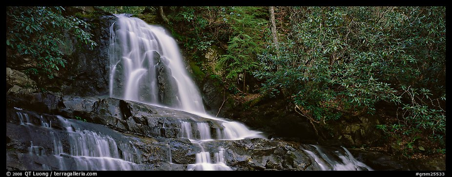Waterfall in decidous forest. Great Smoky Mountains National Park (color)