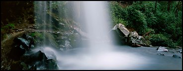 Base of waterfall and pool. Great Smoky Mountains National Park (Panoramic color)