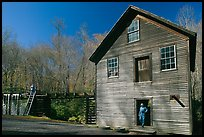 Mingus Mill and mill workers, North Carolina. Great Smoky Mountains National Park ( color)