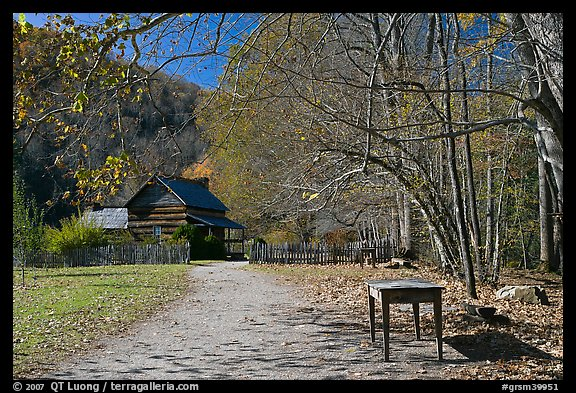Davis House, Mountain Farm Museum, North Carolina. Great Smoky Mountains National Park (color)