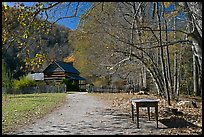 Davis House, Mountain Farm Museum, North Carolina. Great Smoky Mountains National Park, USA. (color)
