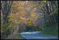Newfoundland Gap road during the fall, Tennessee. Great Smoky Mountains National Park, USA. (color)
