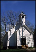 Missionary baptist church, Cades Cove, Tennessee. Great Smoky Mountains National Park, USA.
