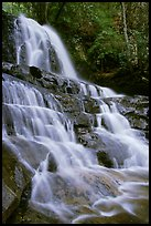 Laurel Falls, Tennessee. Great Smoky Mountains National Park, USA.