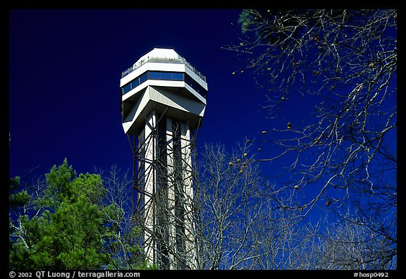 Hot Springs mountain tower. Hot Springs National Park (color)