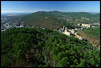 View of Hot Springs from the mountain tower in winter. Hot Springs National Park, Arkansas, USA. (color)