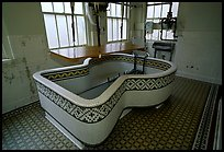 Tile-covered tub, Fordyce bathhouse. Hot Springs National Park, Arkansas, USA.