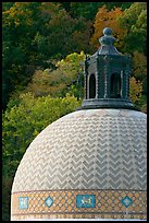 Dome of Quapaw Baths. Hot Springs National Park, Arkansas, USA. (color)