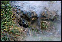 Steam and tufa terrace. Hot Springs National Park, Arkansas, USA. (color)
