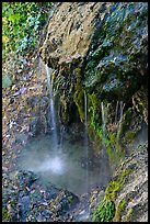 Water from hot springs flowing over tufa rock. Hot Springs National Park, Arkansas, USA. (color)