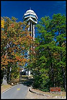 Hot Springs Mountain Tower in the fall. Hot Springs National Park, Arkansas, USA. (color)