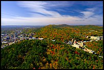 View over Hot Springs Mountain and West Mountain in the fall. Hot Springs National Park, Arkansas, USA. (color)