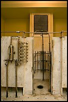 Bathing equipment, mens bath hall. Hot Springs National Park, Arkansas, USA.