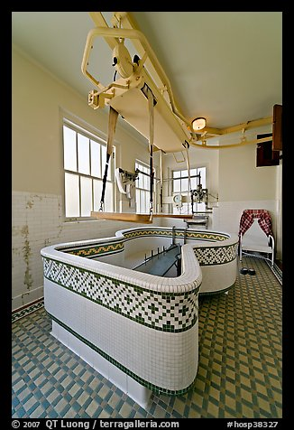 Hubbard Tub room. Hot Springs National Park (color)