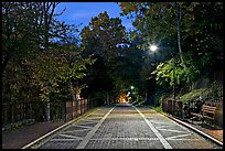 Grand Promenade at dusk. Hot Springs National Park, Arkansas, USA.